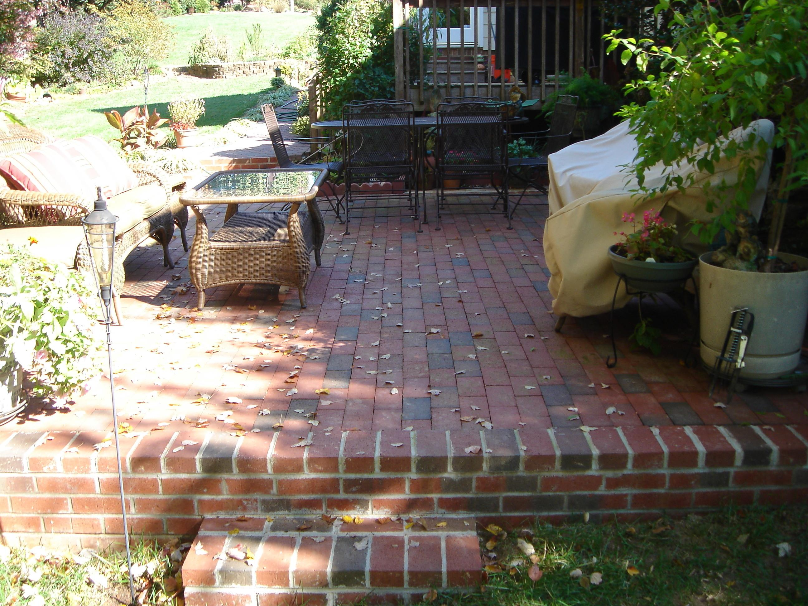Vintage Patio Designs Bricks Wisma Home