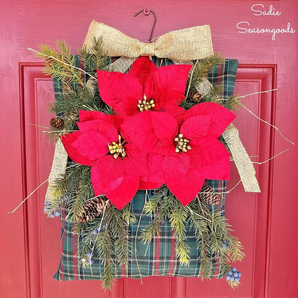 Vintage Plaid Clothespin Bag Repurposed Into Rustic