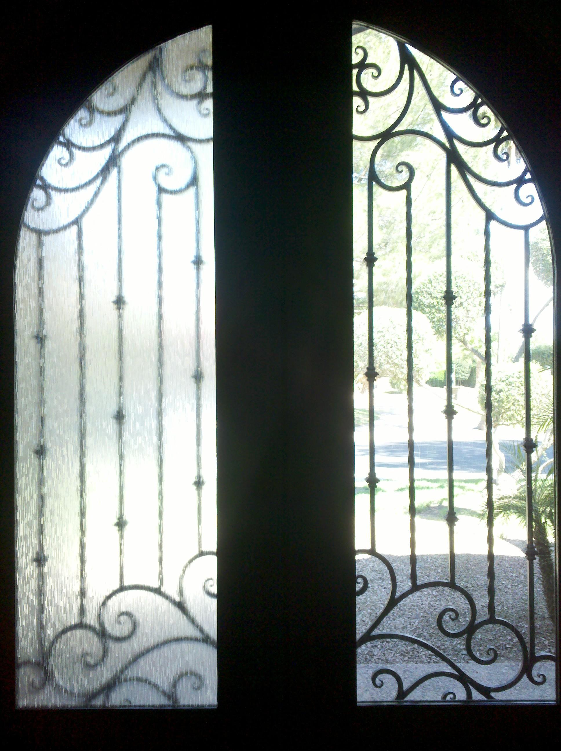 Vintage Rice Paper Frosted Window Film Arizona