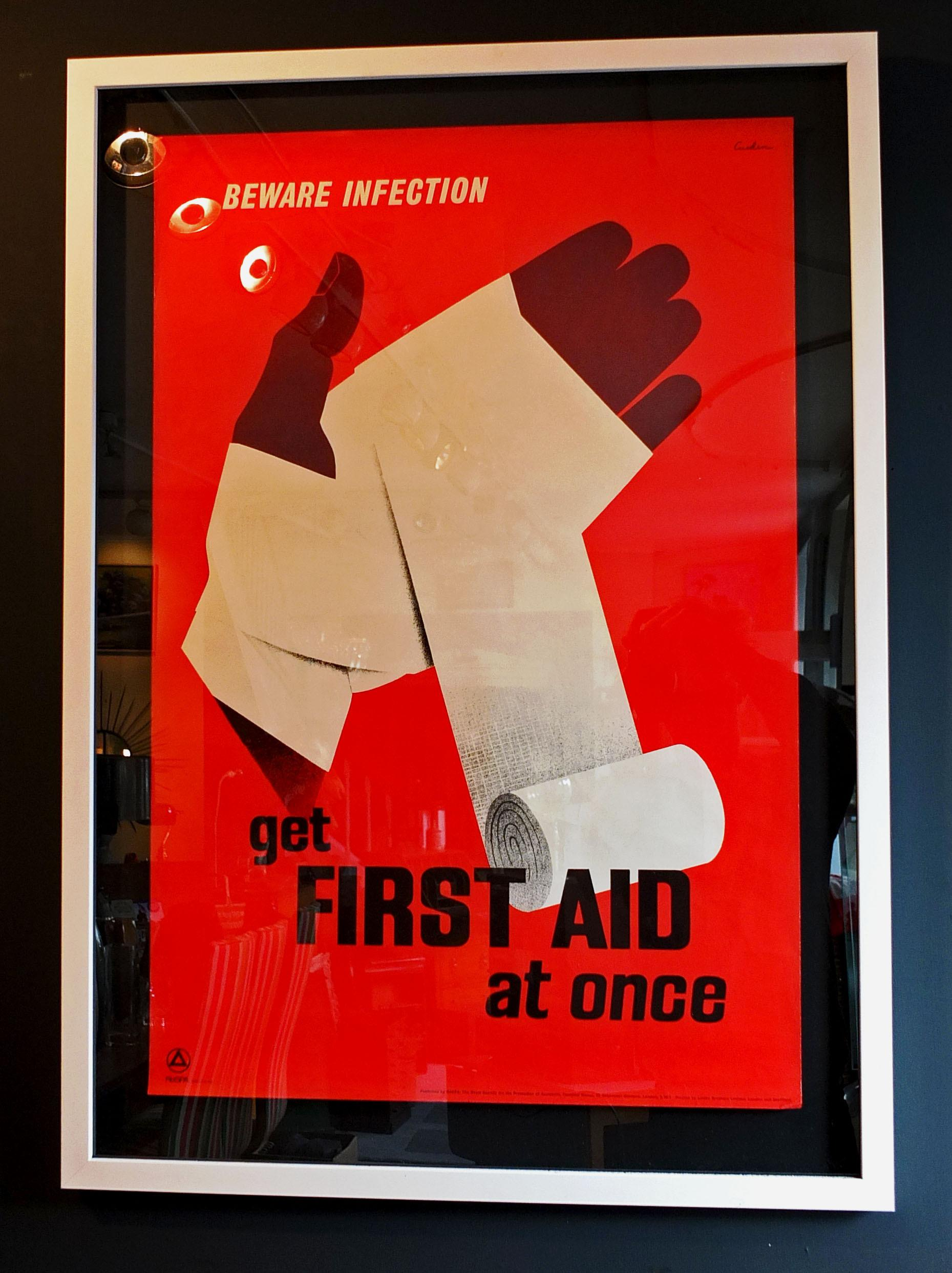 Vintage Rospa First Aid Poster Astley House Interiors