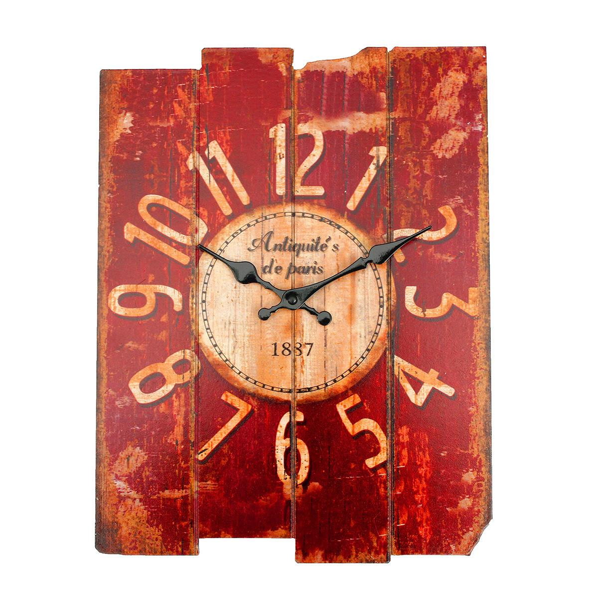 Vintage Rustic Shabby Chic Wall Clock Home Room Bedroom