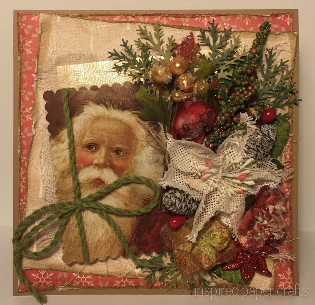 Vintage Santa Christmas Card Crafts Close Heart