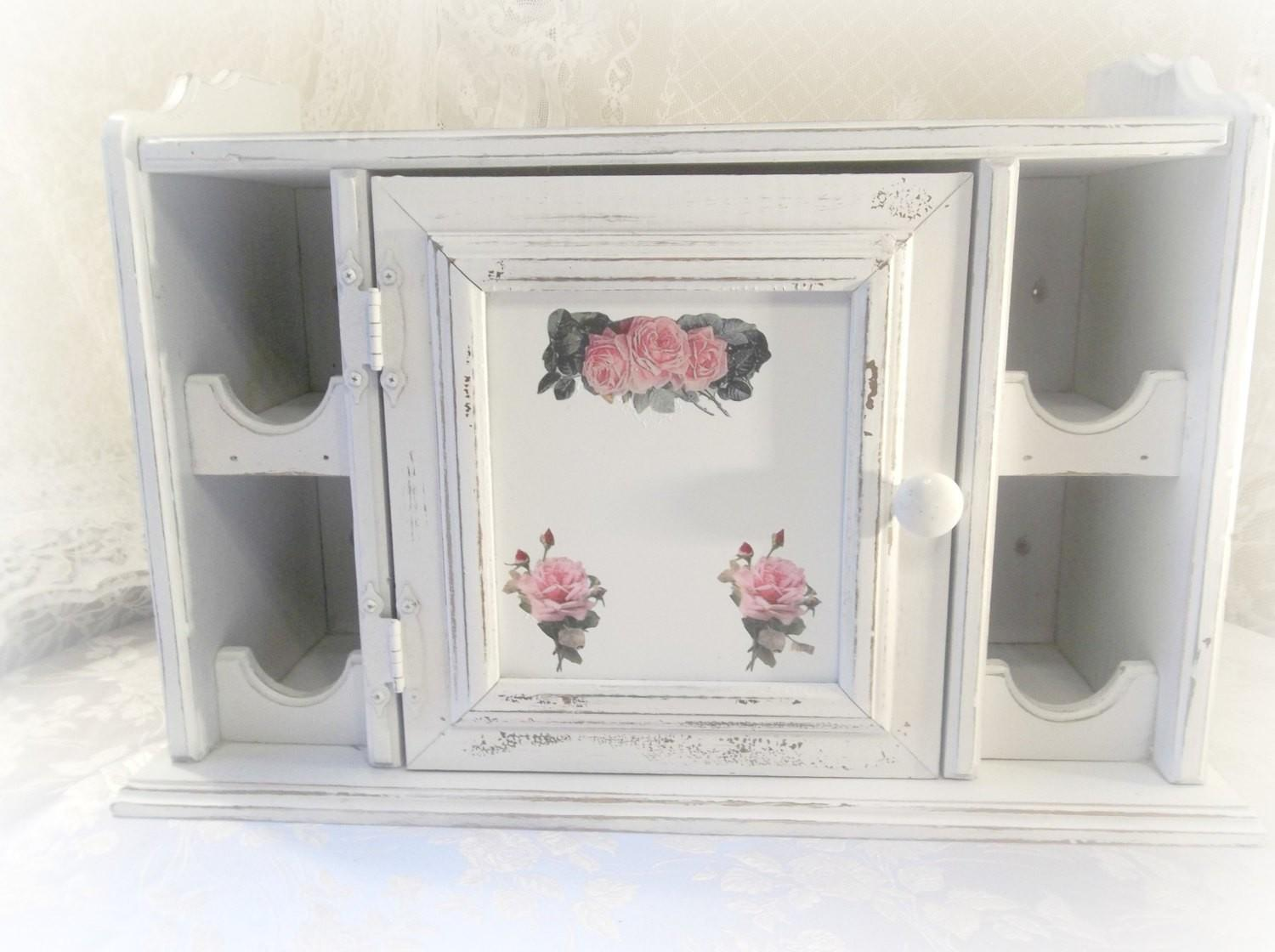 Vintage Shabby Cottage Rustic Chippy White Chic Wine Rack
