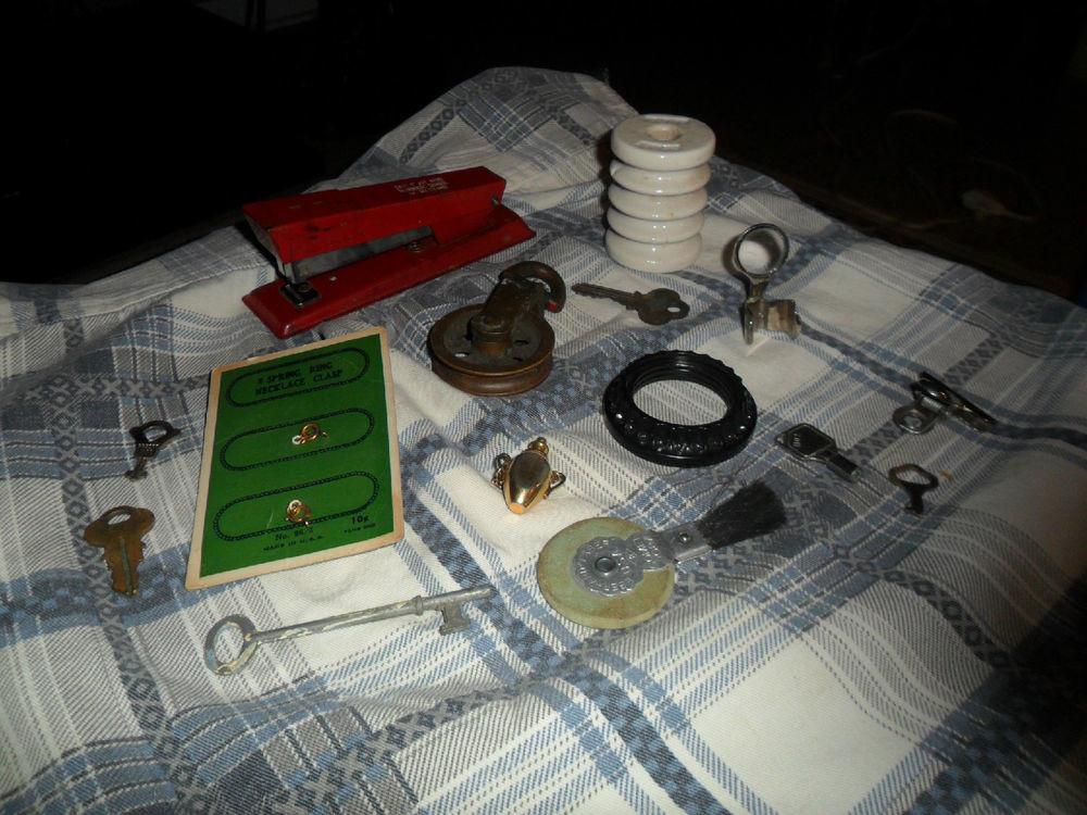 Vintage Steampunk Collectors Decor Lot Items