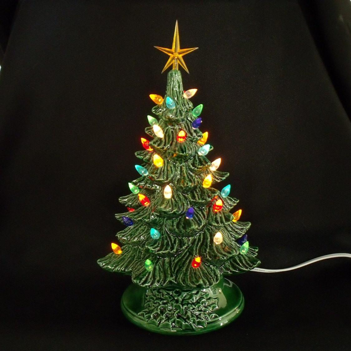 Vintage Style Ceramic Christmas Tree Inches