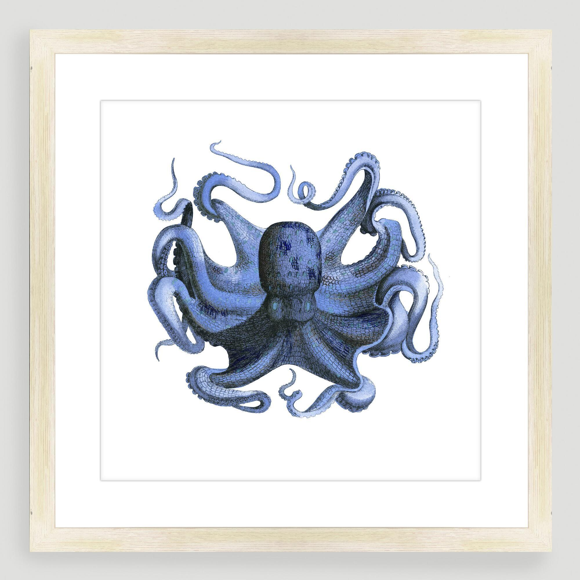 Vintage Style Octopus Sea Life Wall Art World Market