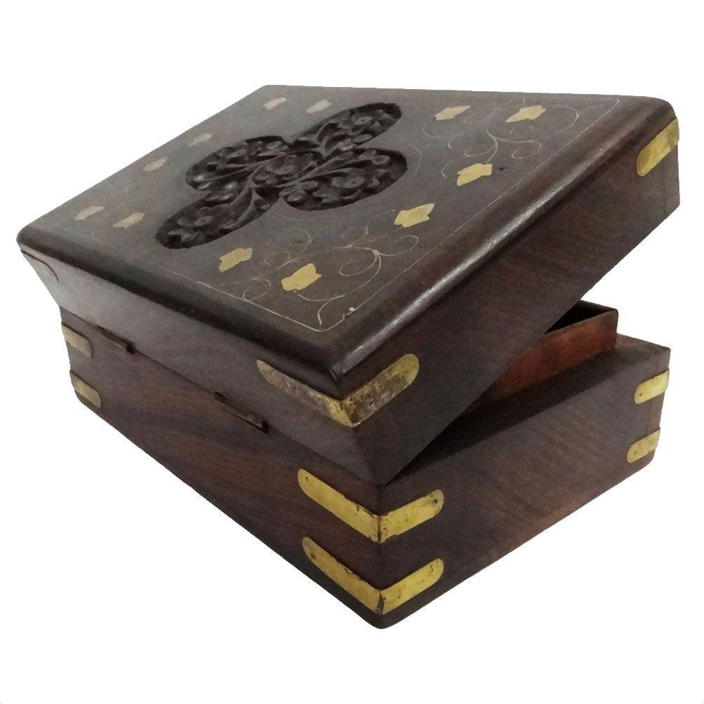 Vintage Style Small Wooden Jewelry Wood Box Storage