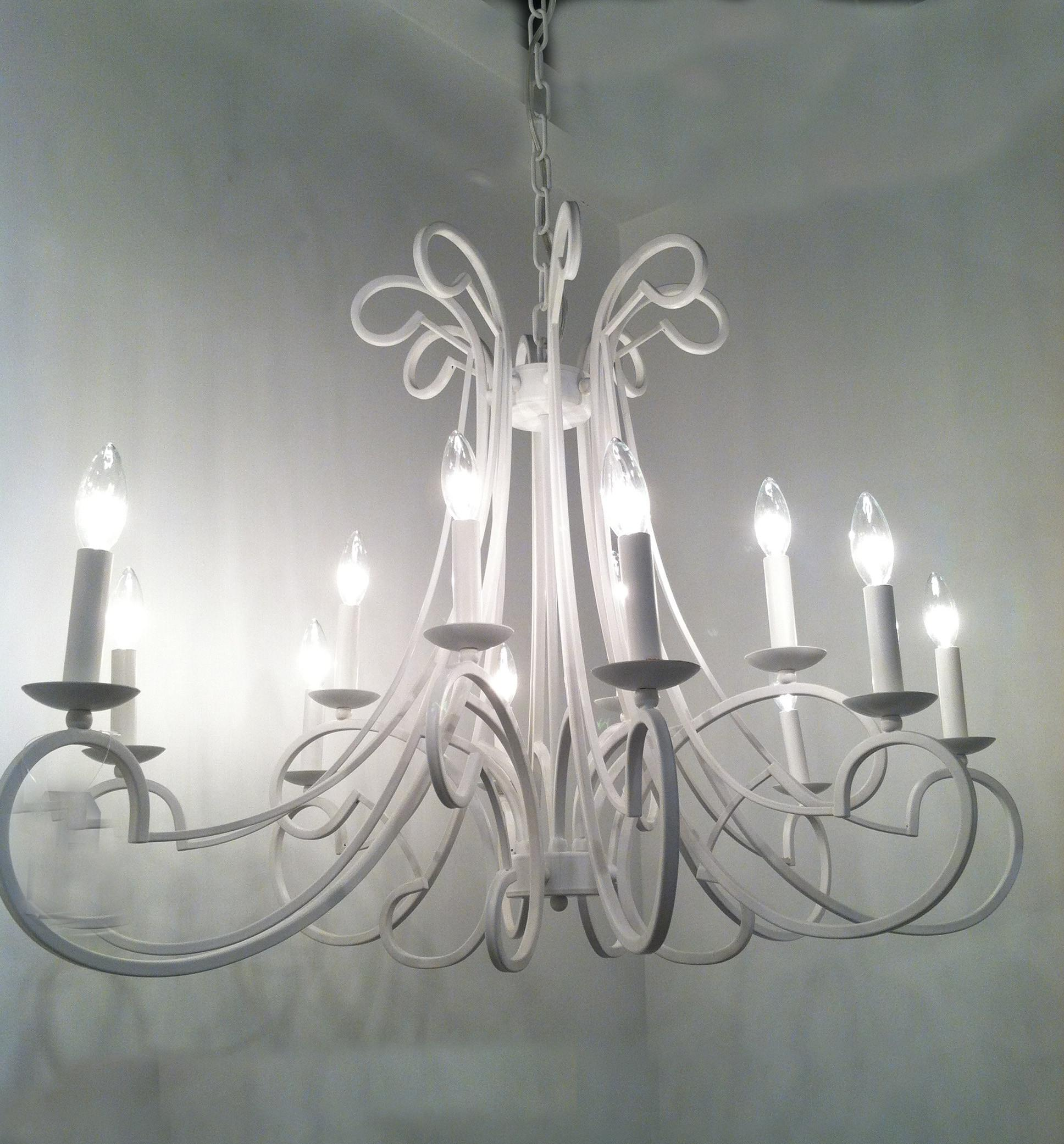 Vintage Style White Finished Iron Cool Chandeliers