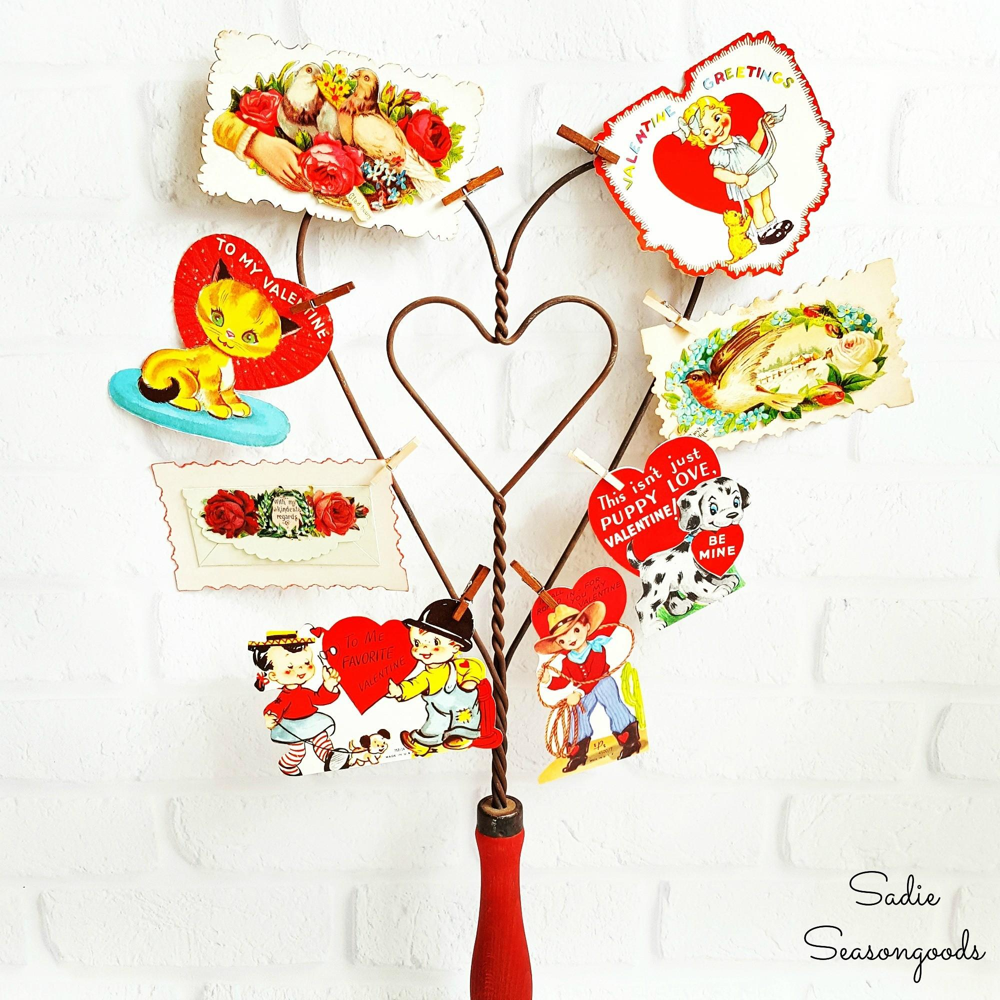 Vintage Valentine Day Decor Repurposed Antique