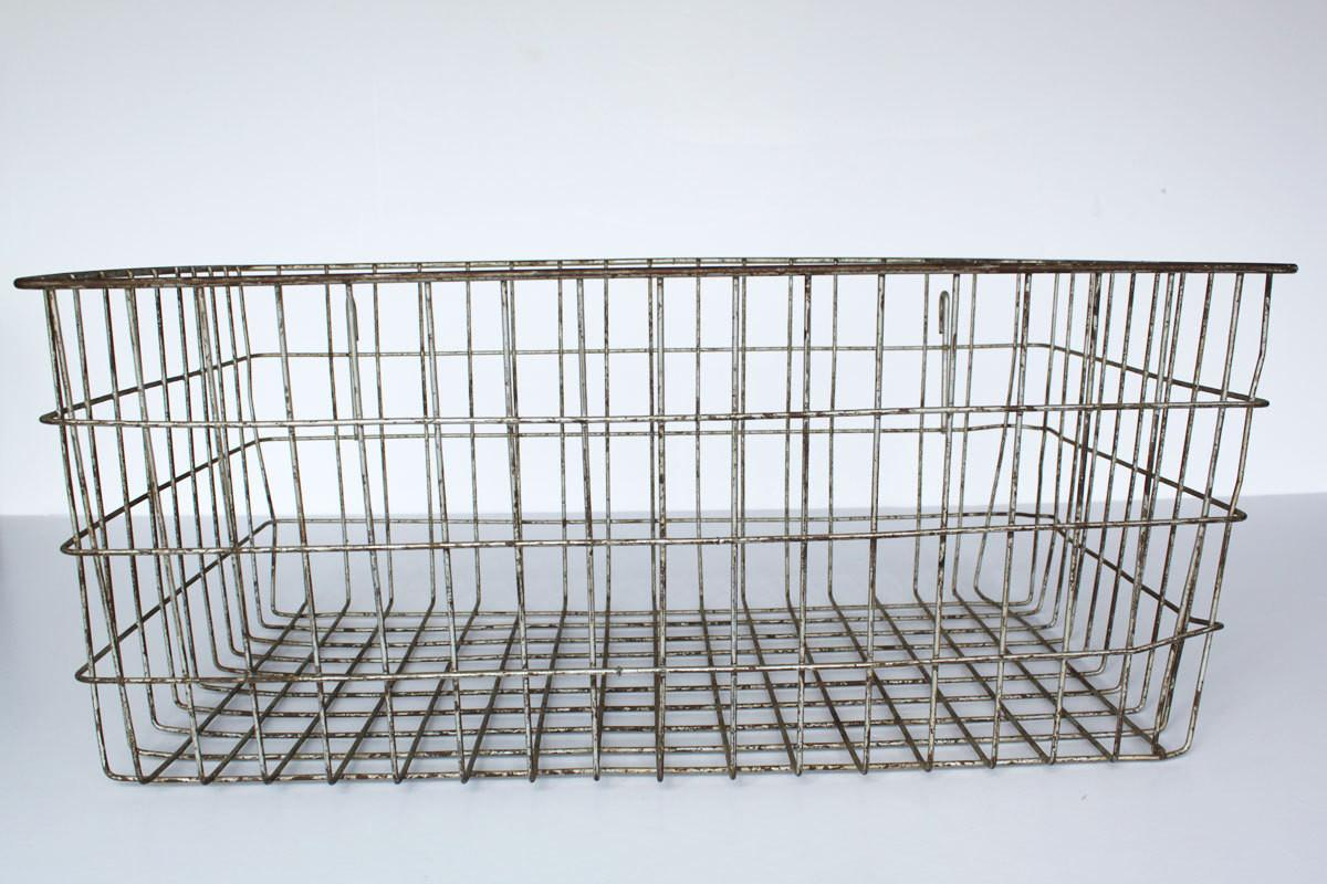 Vintage Wire Basket Rusty Extra Large Home Decor