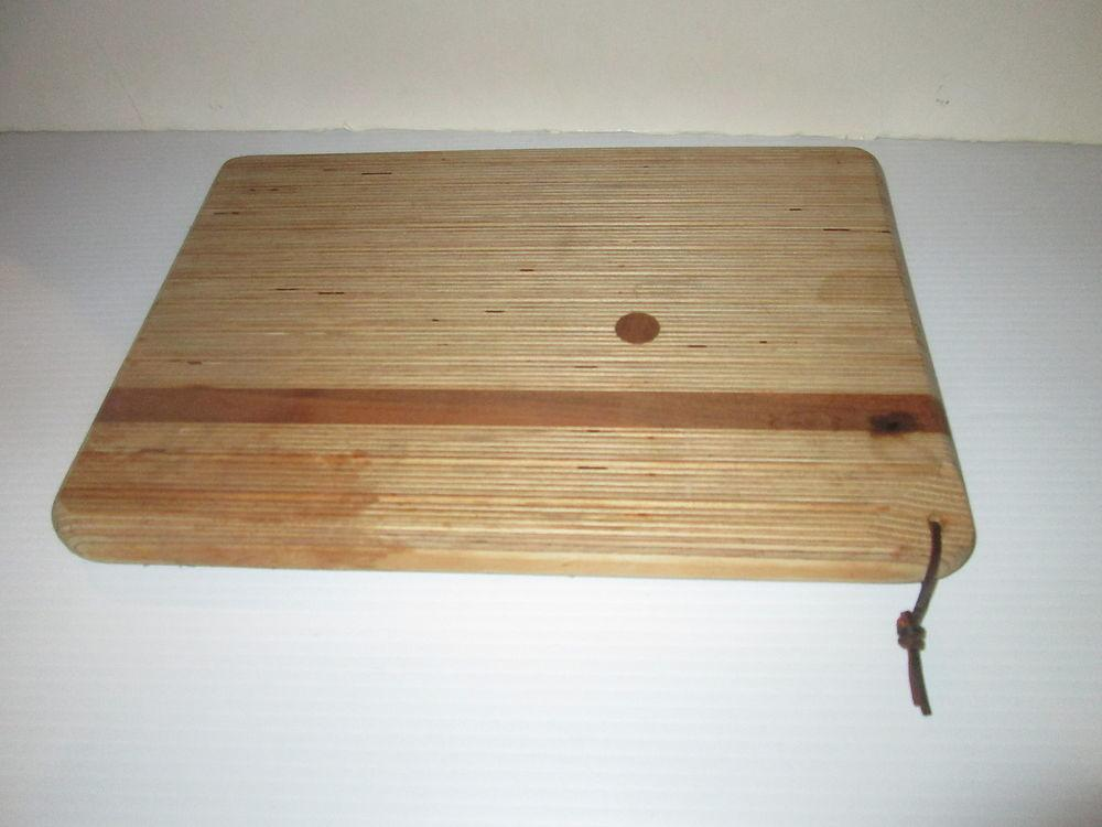 Vintage Wooden Carving Cutting Cheese Board Wood Thick