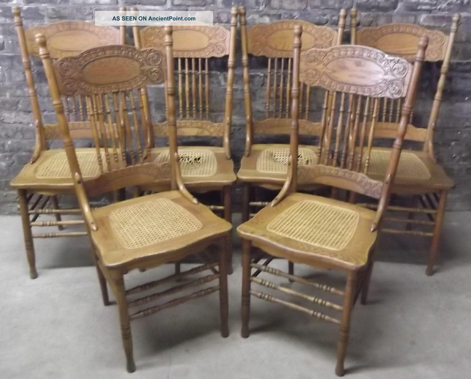 Vintage Wooden Dining Table Chairs Seating