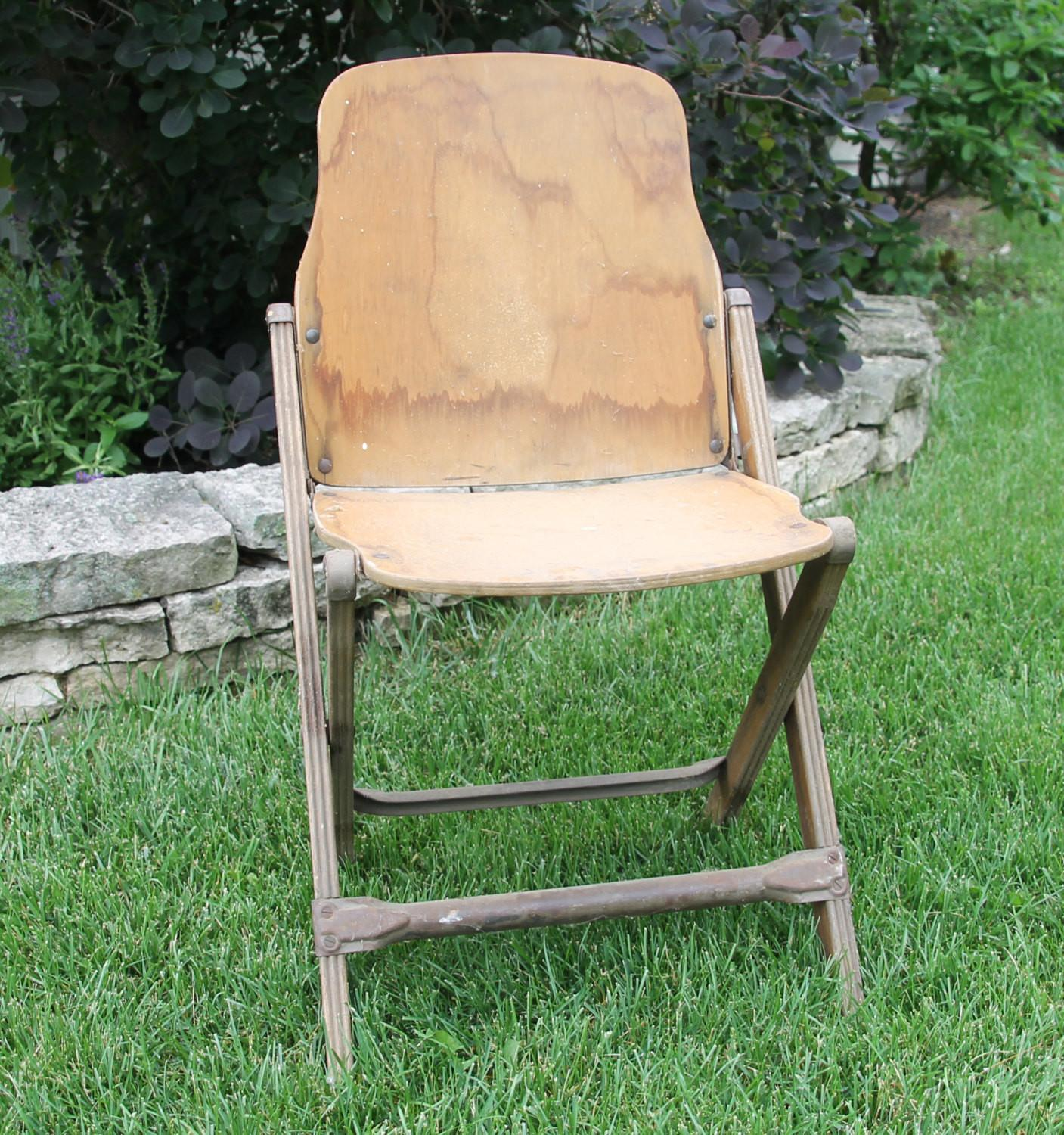 Vintage Wooden Folding Chairs Home Furniture