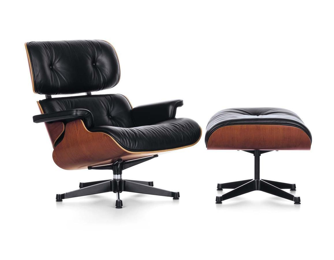 Vitra Lounge Chair Ottoman Charles Ray Eames 1956