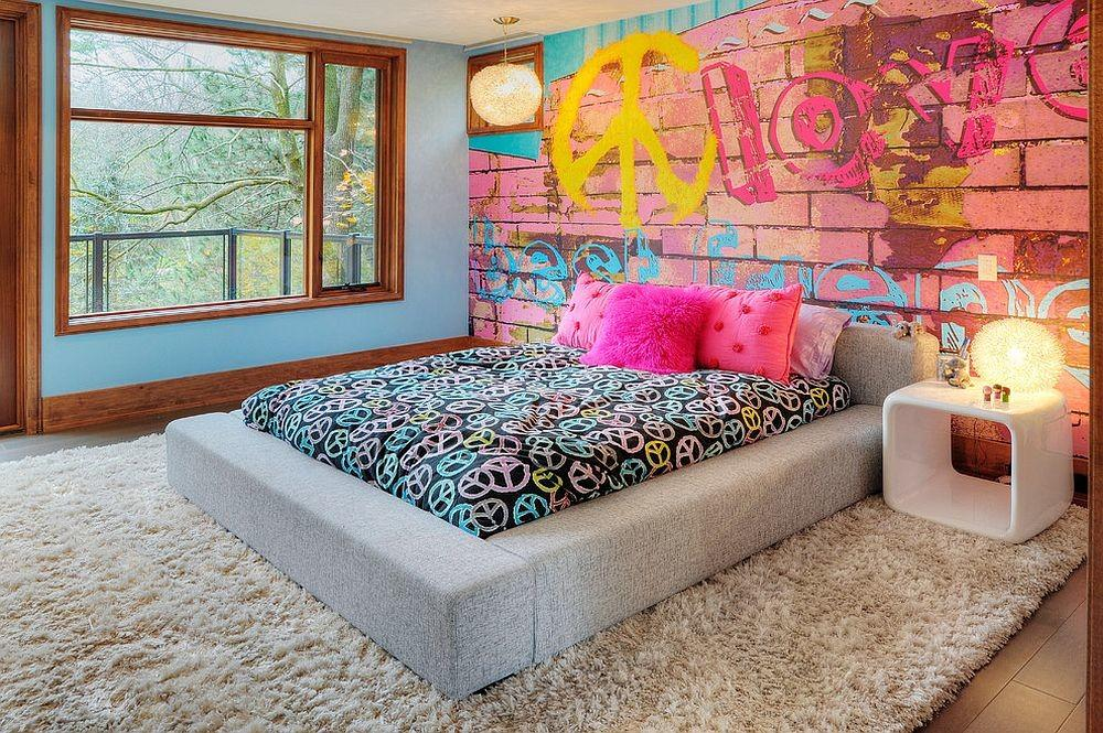 Vivacious Kids Rooms Brick Walls Personality