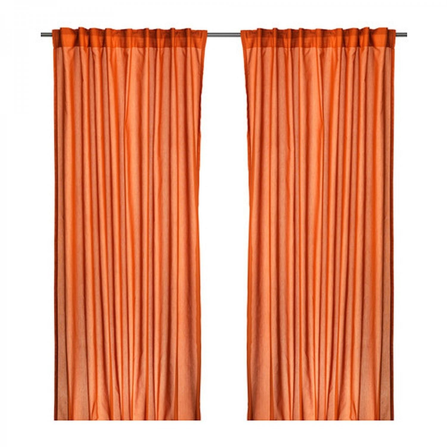 Vivan Curtains Drapes Dark Orange Panels