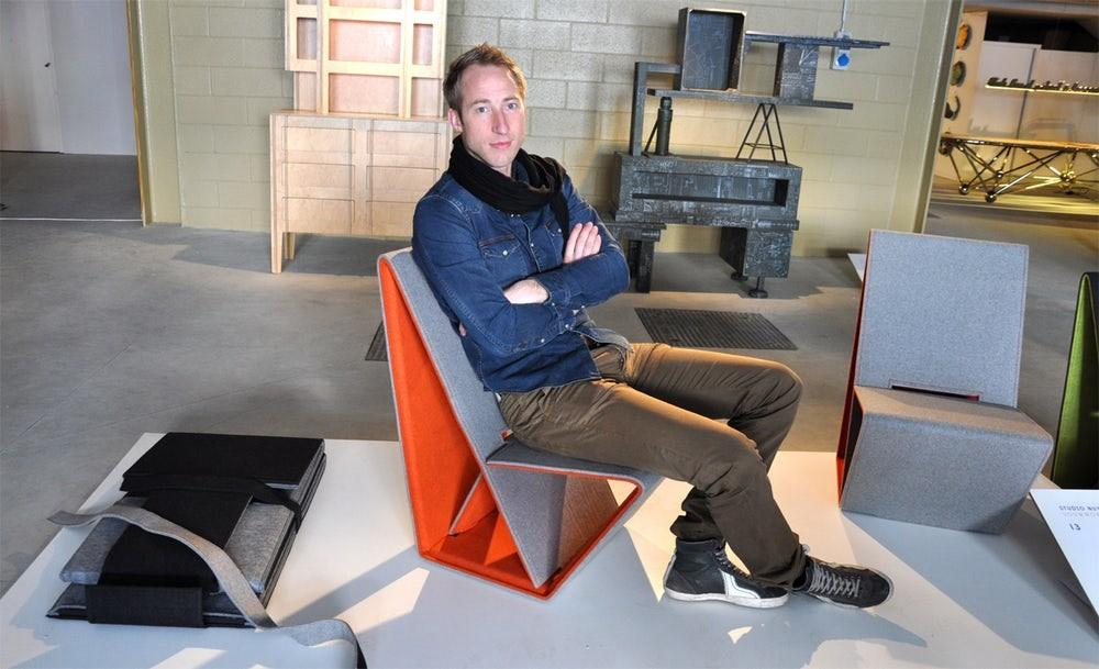 Vouwwow Foldable Lounge Chair Made Recycled
