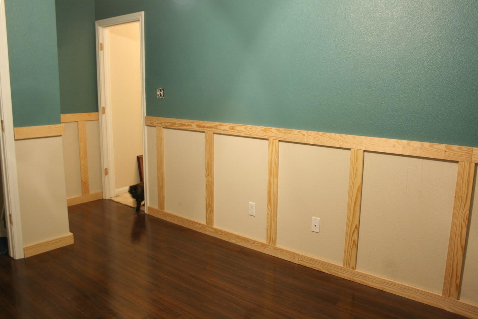 Wainscoting Installation Stage