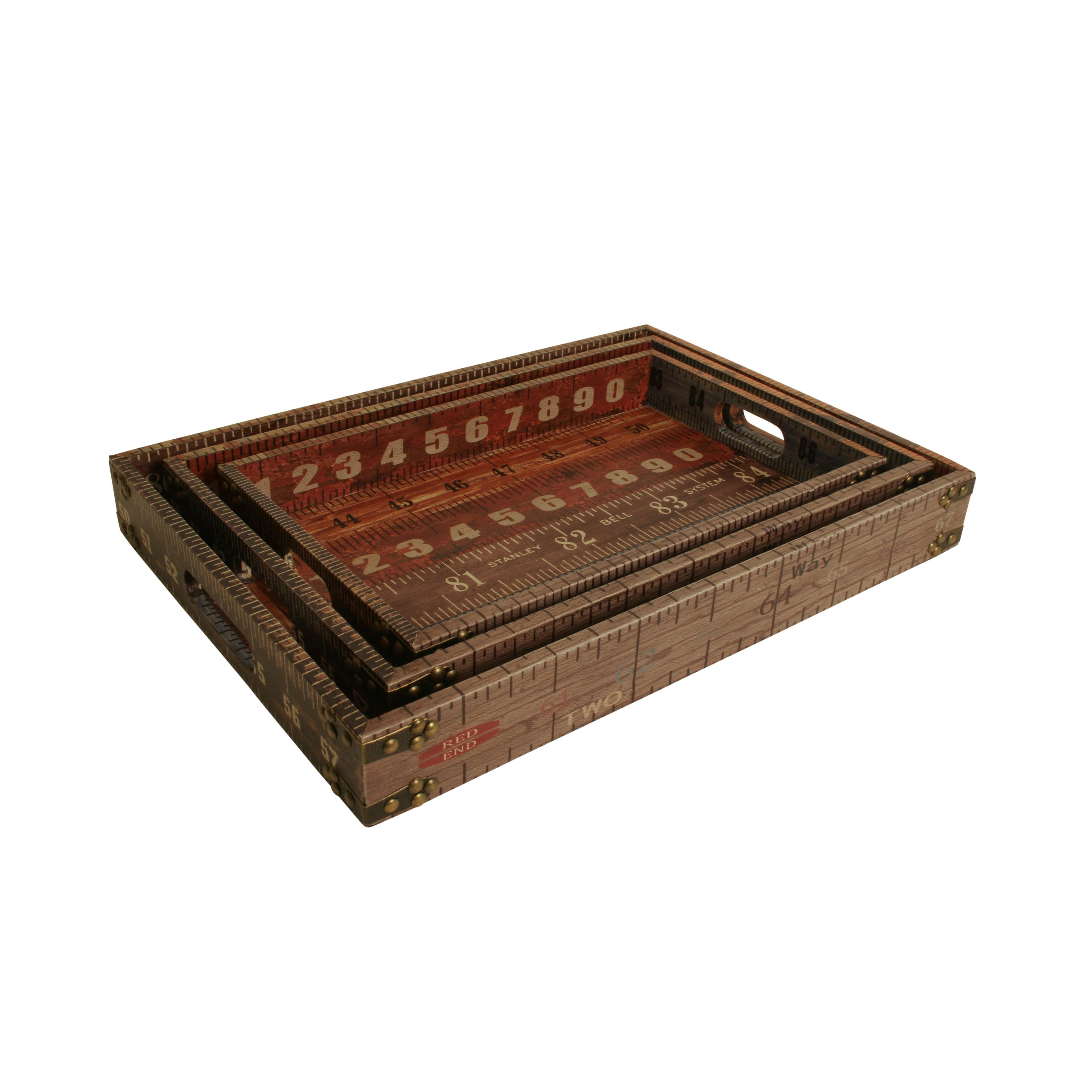 Waldimports Piece Ruler Designer Tray Set