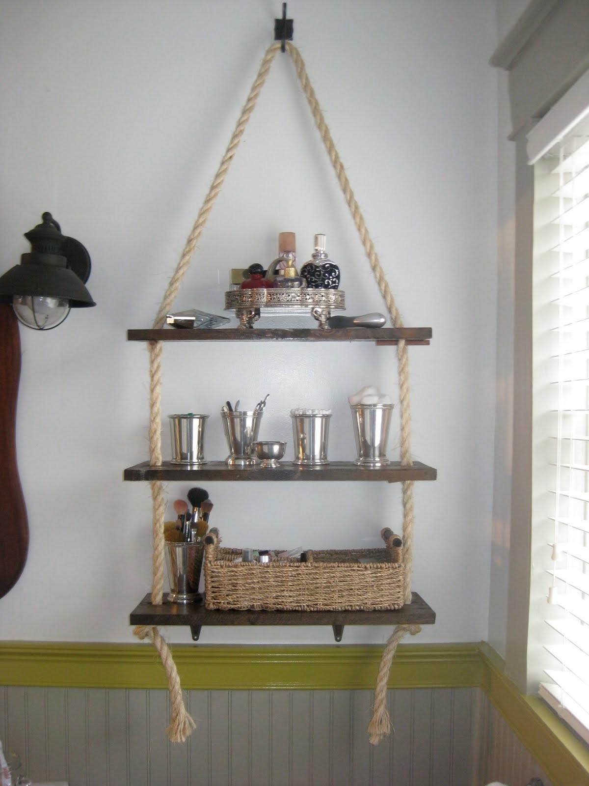 Walk Through Bathroom Shelving Diy