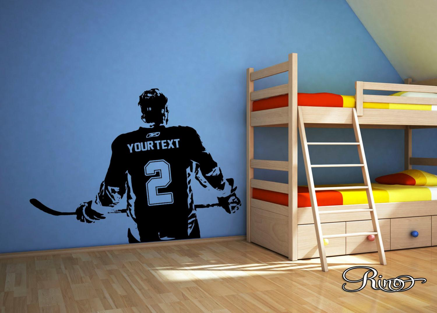 Wall Art Custom Large Ice Hockey Player Choose