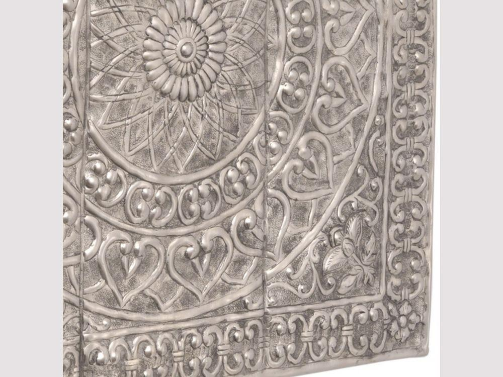 Wall Art Design Ideas Antique Silver Embossed Metal