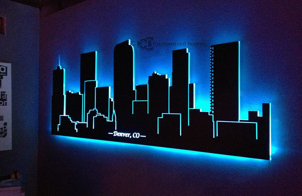 Wall Art Design Ideas Branches Lighted Sample