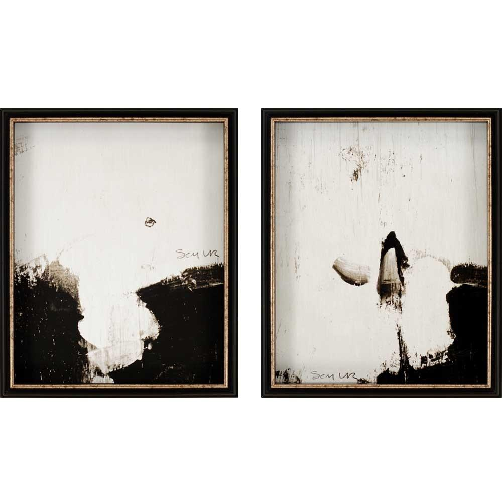 Wall Art Design Ideas Two Separated Photos Contemporary