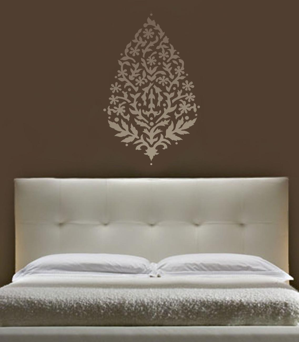 Wall Art Stencil Large Paisley Exotic India Ethnic