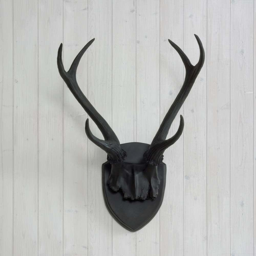 Wall Charmers Antler Mount Black Necklace Rack Fake Deer