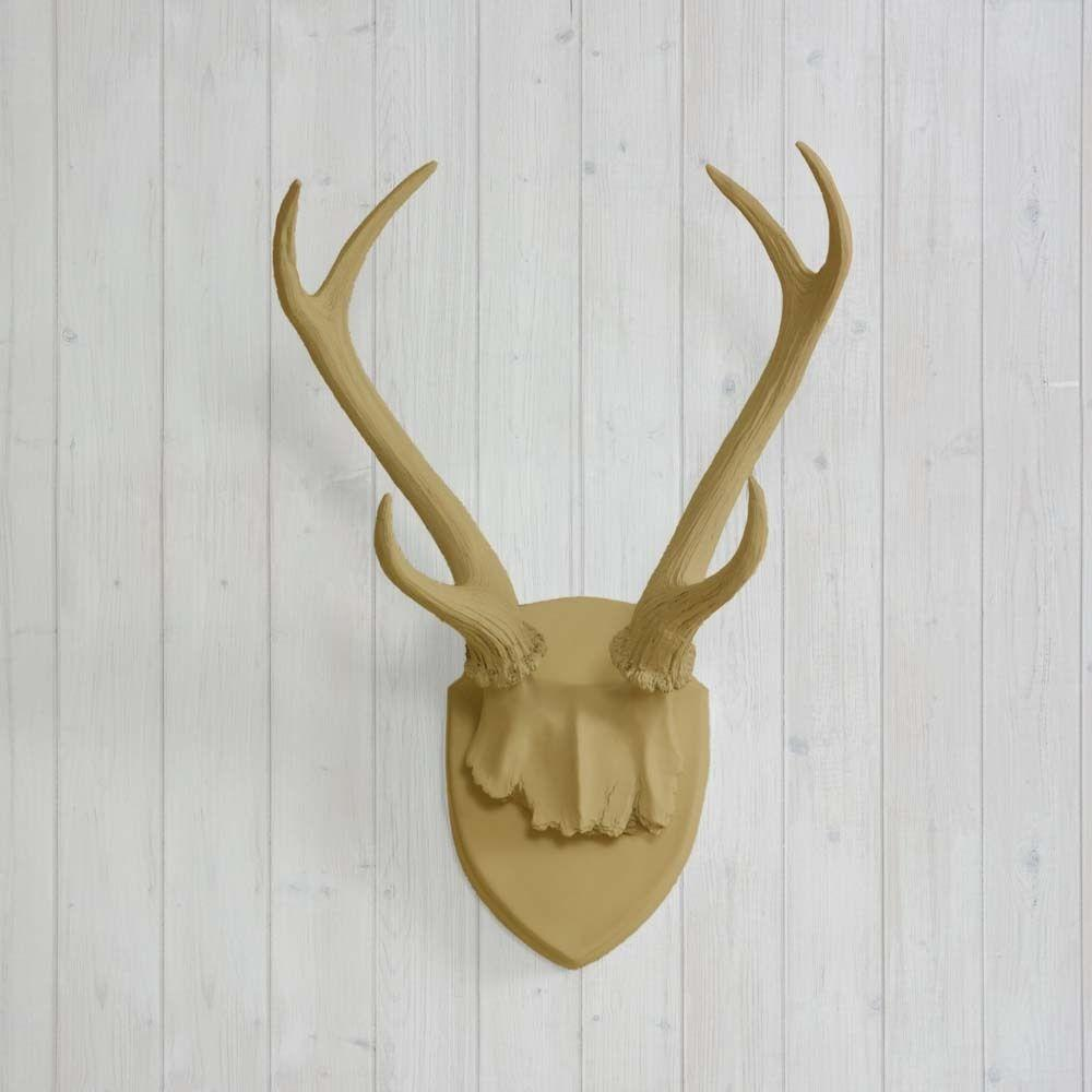 Wall Charmers Antler Mount Khaki Necklace Rack Brown Fake
