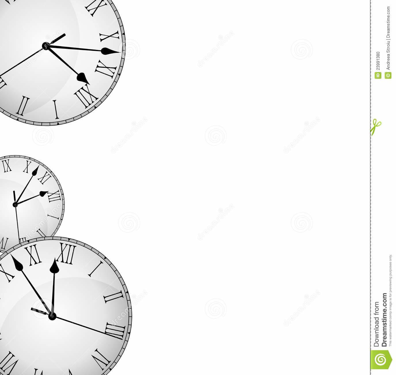 Wall Clock Border Frame Stock Illustration