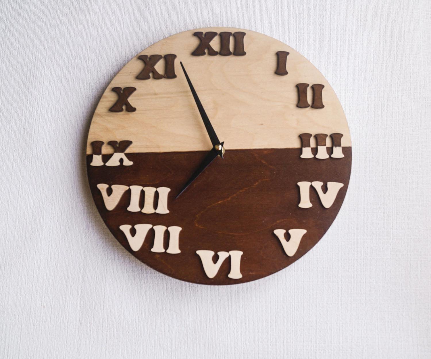 Wall Clock Trending Minimalist Art Natural Wood