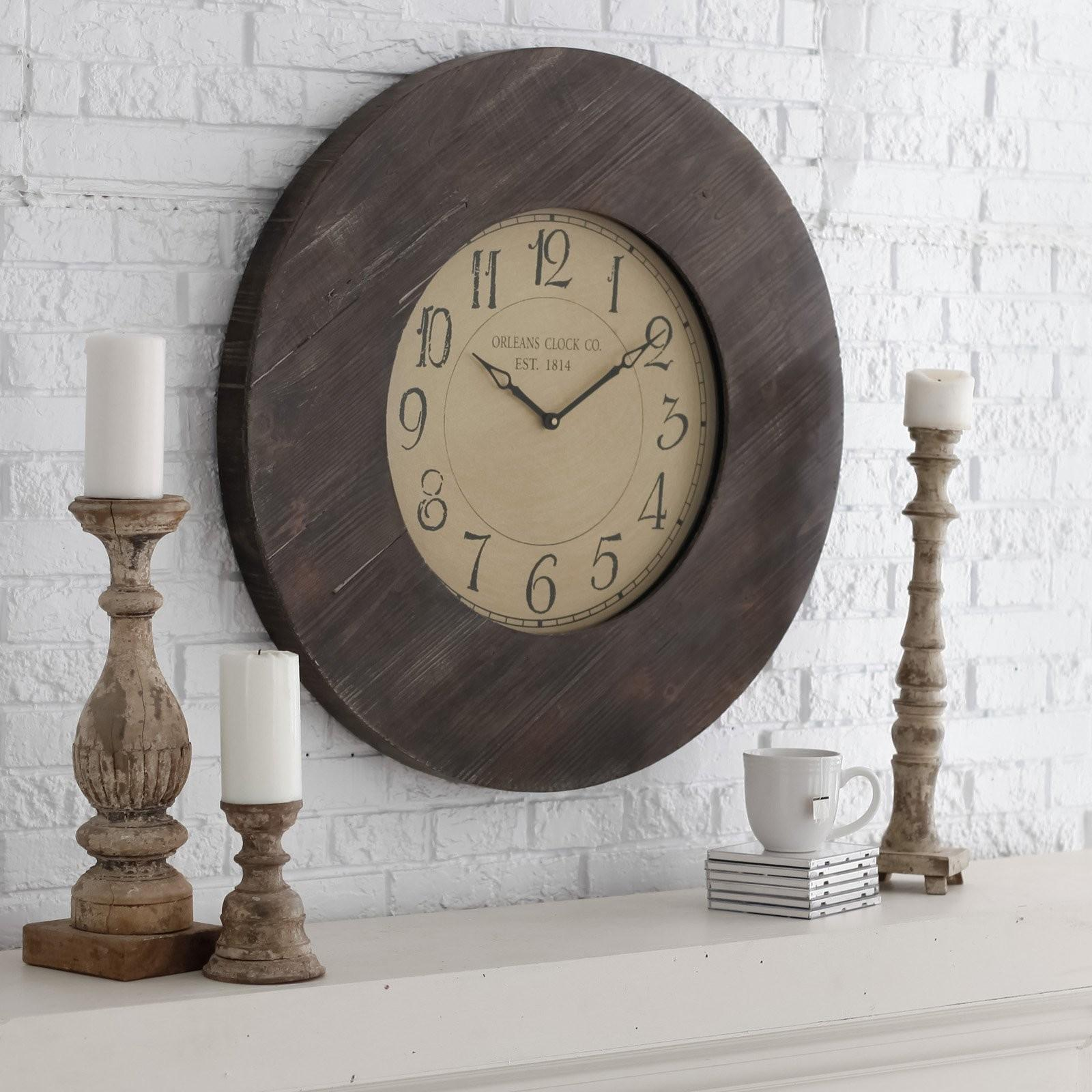 Wall Clock Wooden Frame Inspiration Clocks