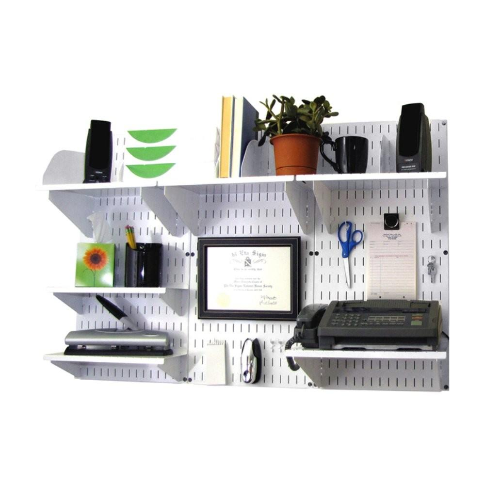 Wall Control Office Mount Desk Storage