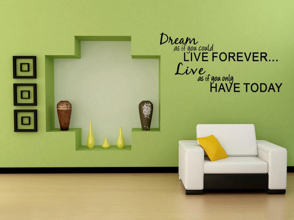 Wall Decal Quote Lettering Art Words Sticker