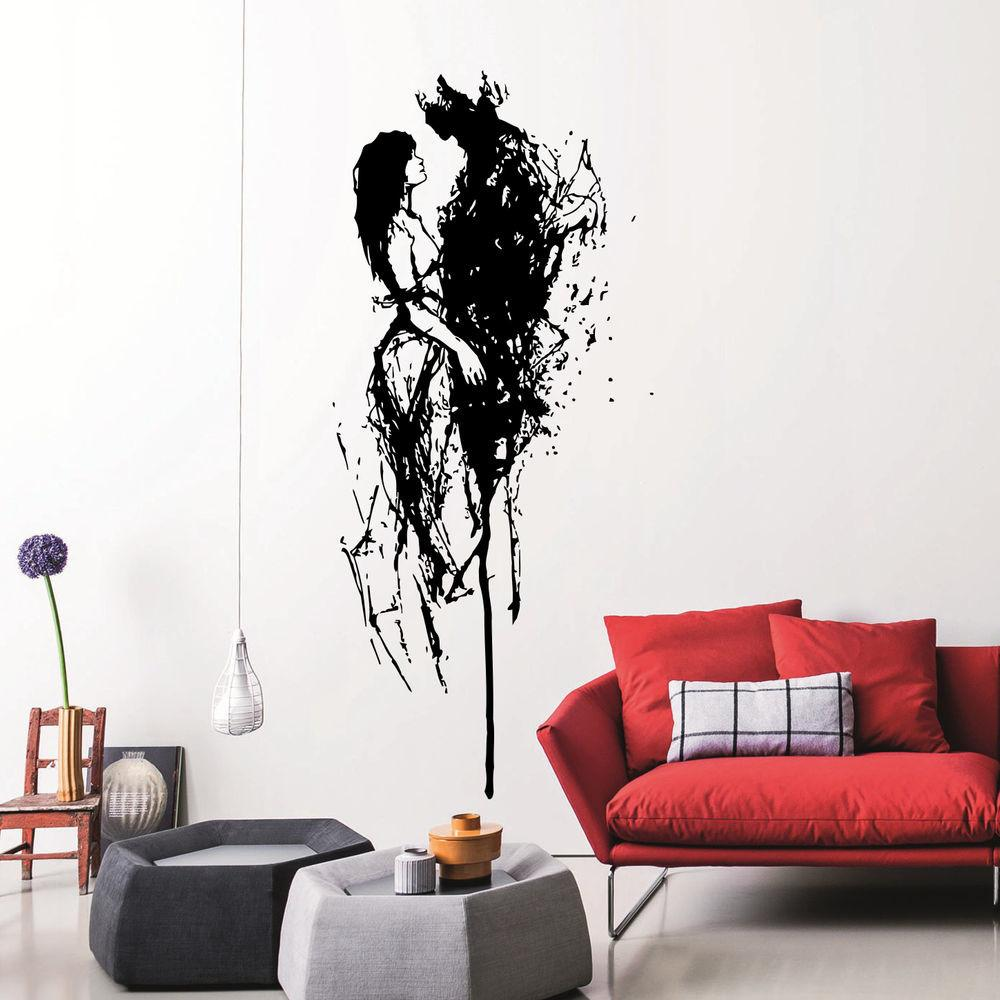 Wall Decal Silhouette Loving Couple Vinyl Stickers Home