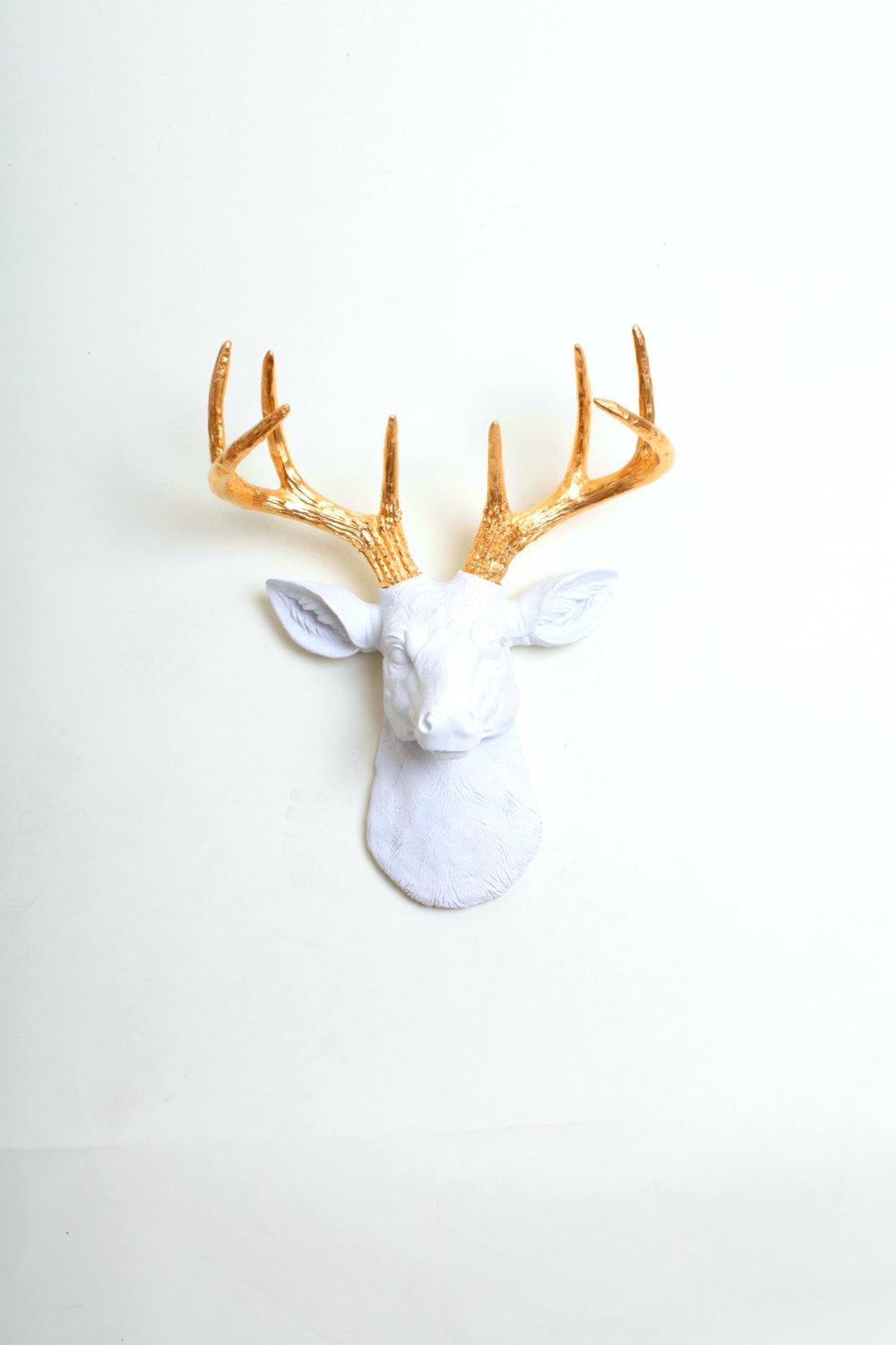 Wall Decor Impressive Faux Deer Head