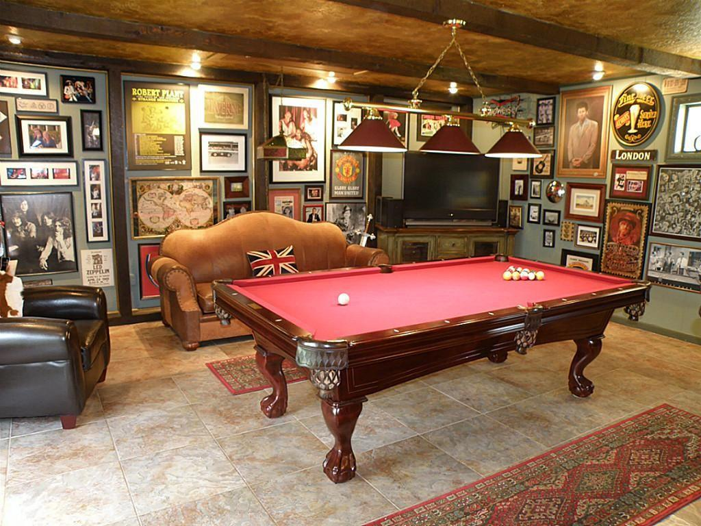 Wall Decor Pool Table Room Decorating Ideas Interior