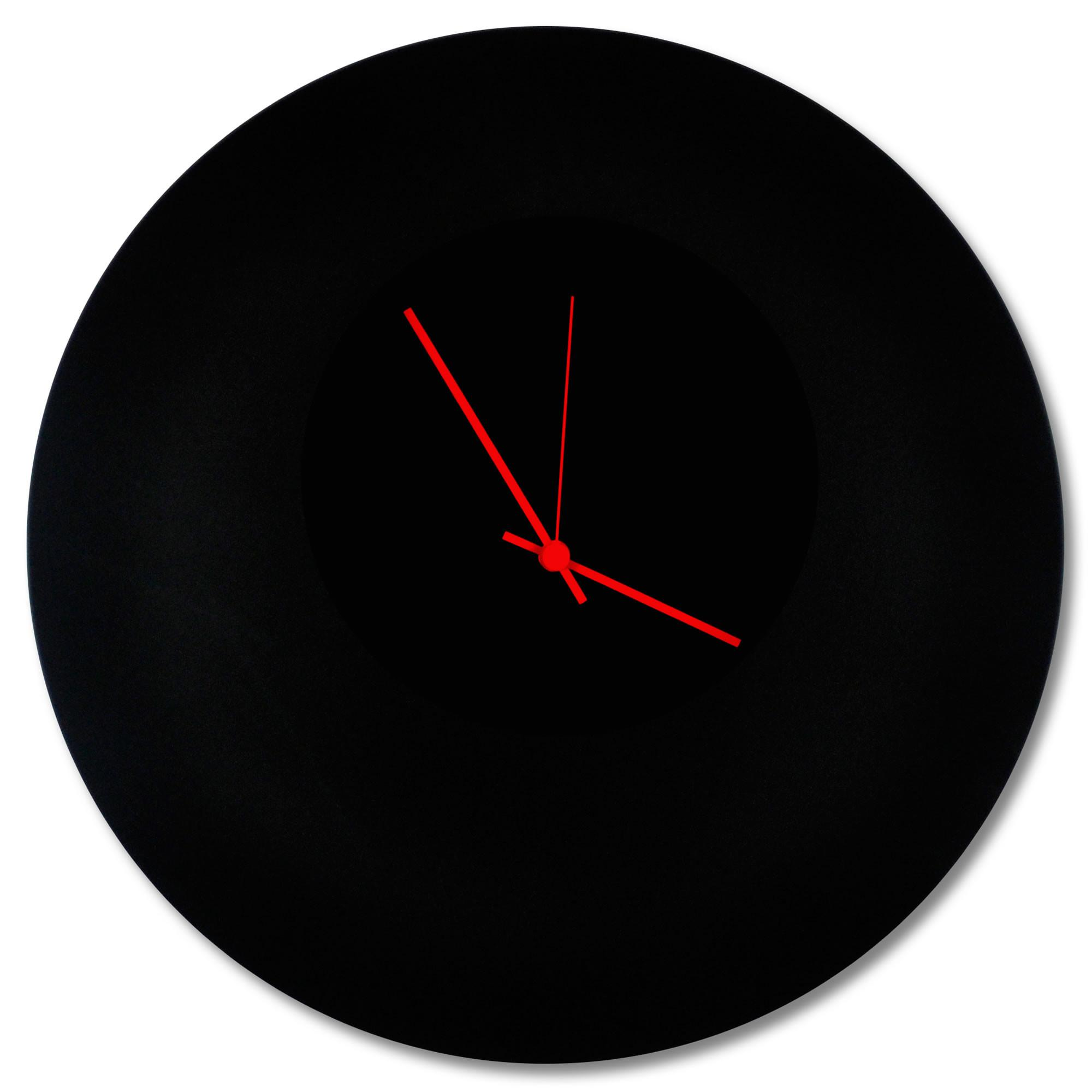 Wall Decor Sale Blackout Red Circle Clock Modern