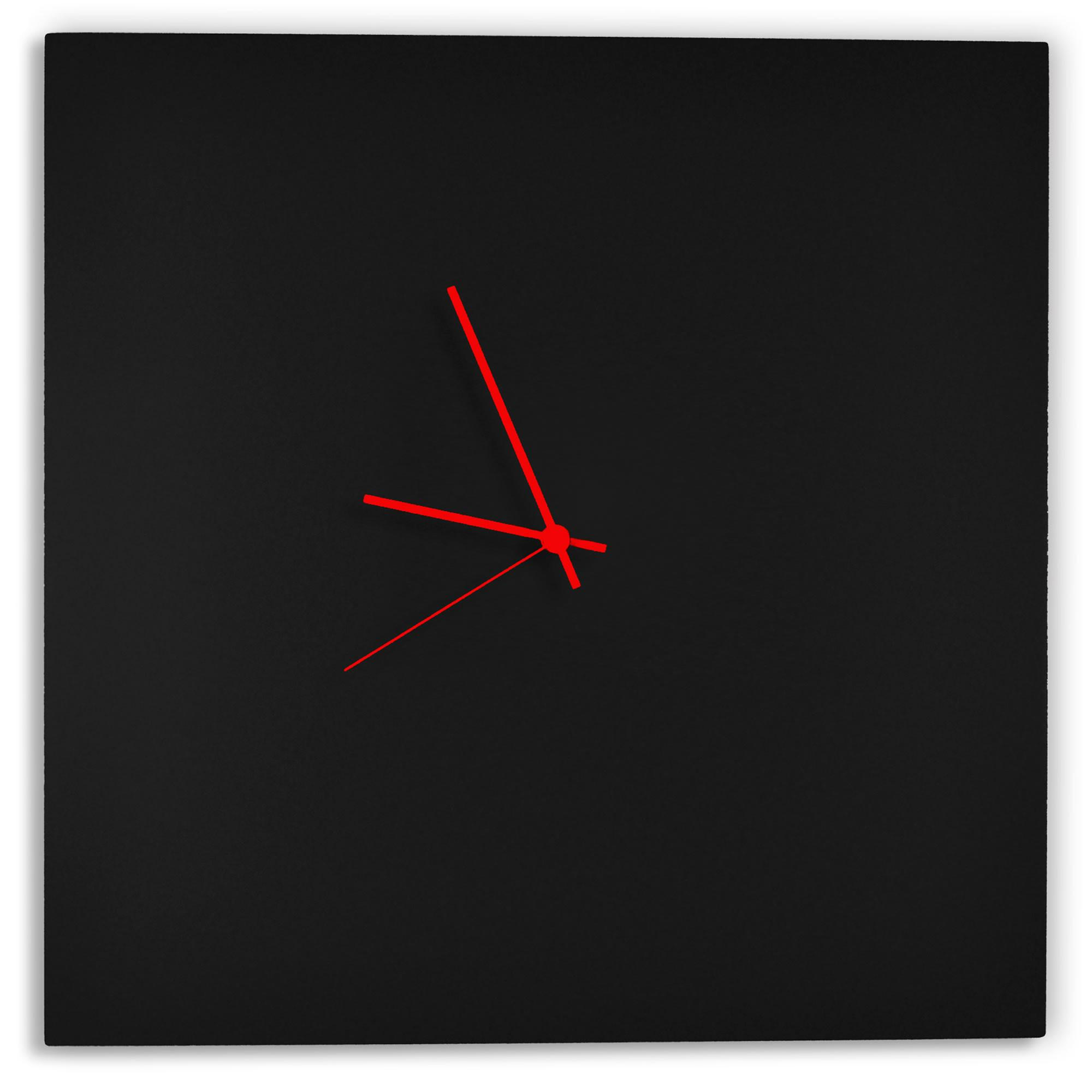 Wall Decor Sale Blackout Red Square Clock Modern