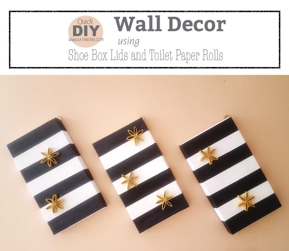 Wall Decor Using Shoe Boxes Lid Toilet Paper Rolls