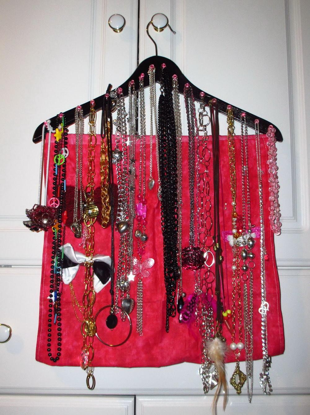 Wall Hanging Necklace Organizer Home Design Ideas