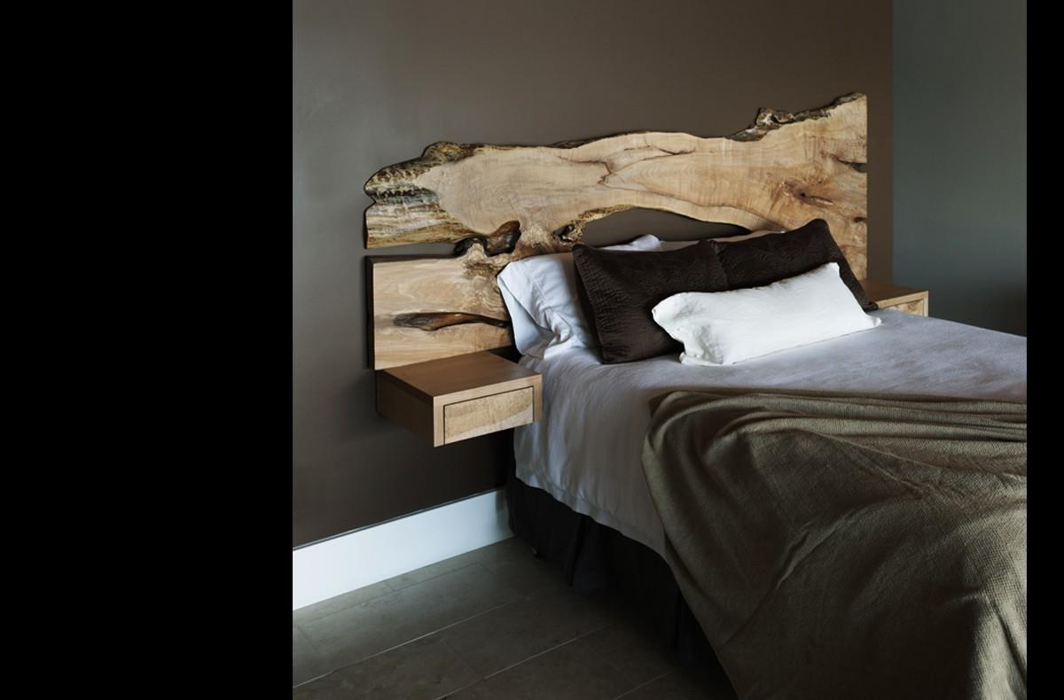 Wall Hung Headboard Attached Nightstands King