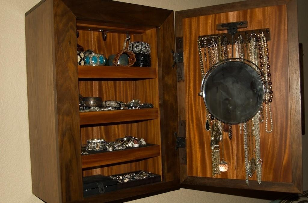 Wall Mount Jewelry Box Secret Storage Stashvault