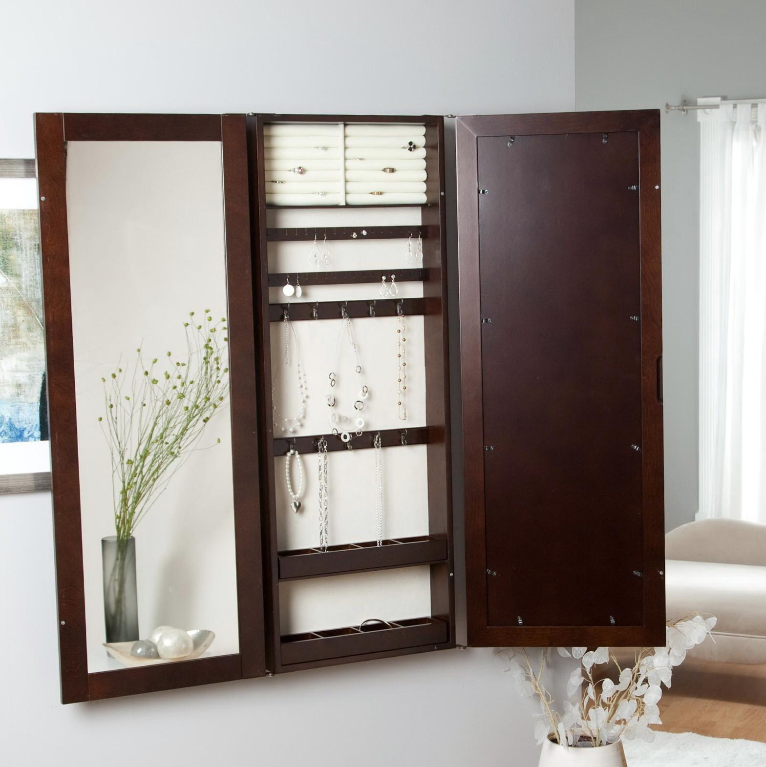 Wall Mount Mirror Jewelry Armoire Home Design Ideas