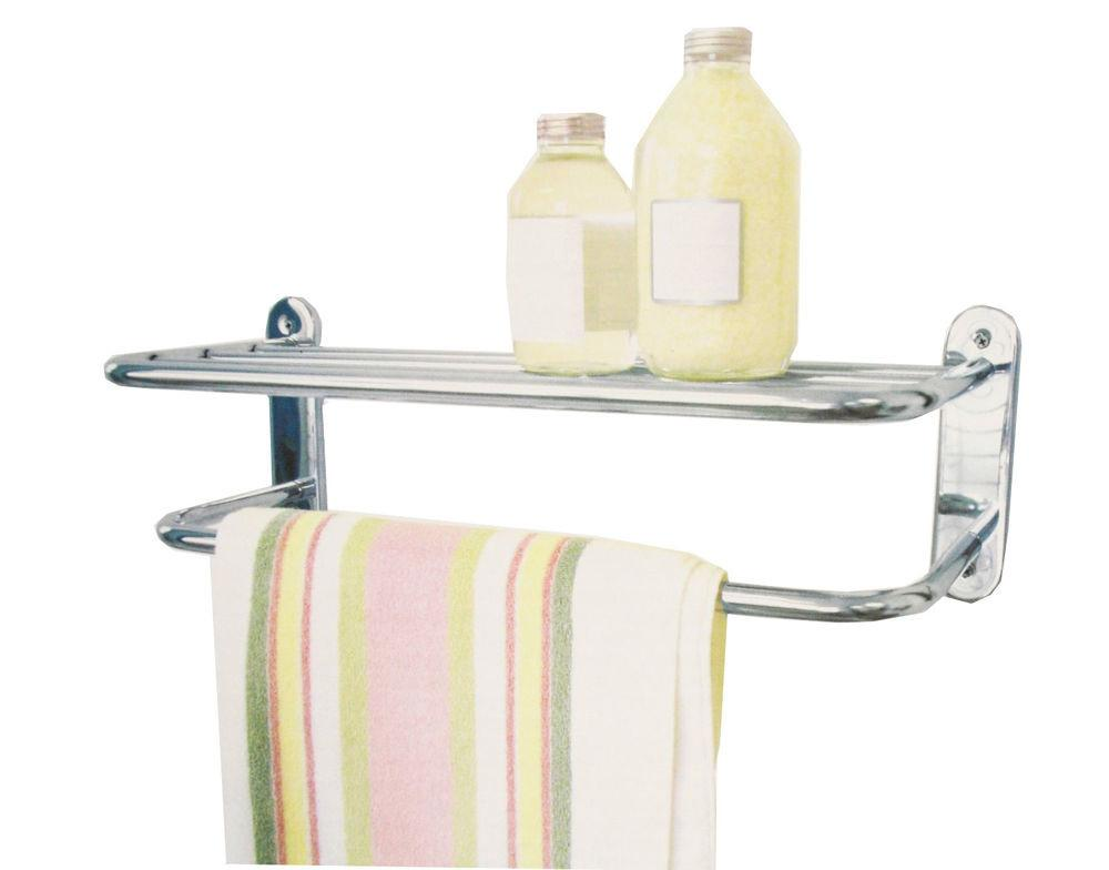 Wall Mounted Chrome Plated Bathroom Bath Towel Rail