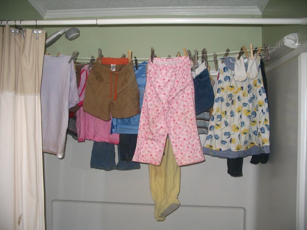 Wall Mounted Clothes Drying Rack Indoor Simple