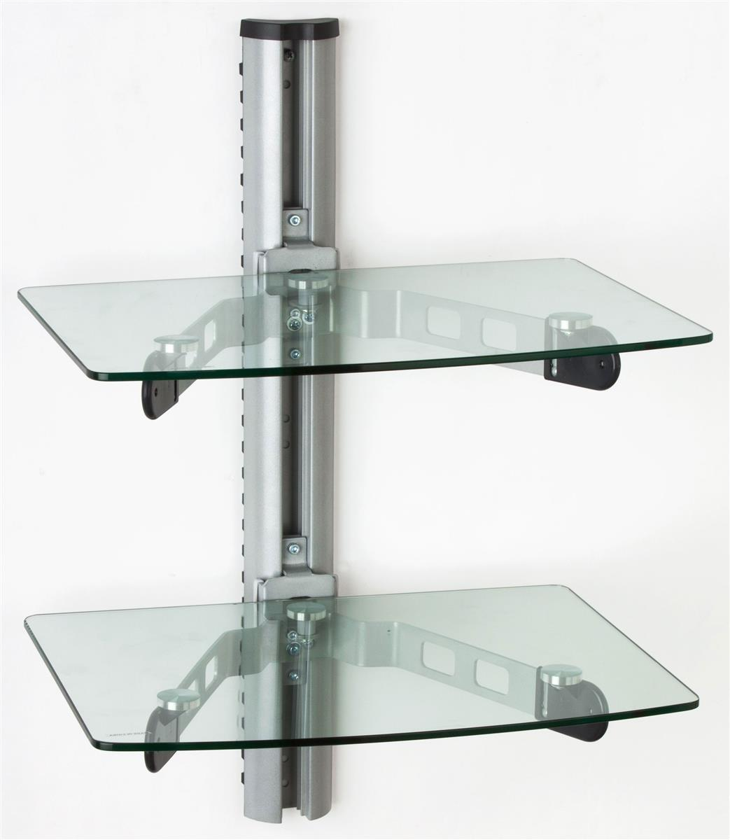 Wall Mounted Glass Shelves Component Stand