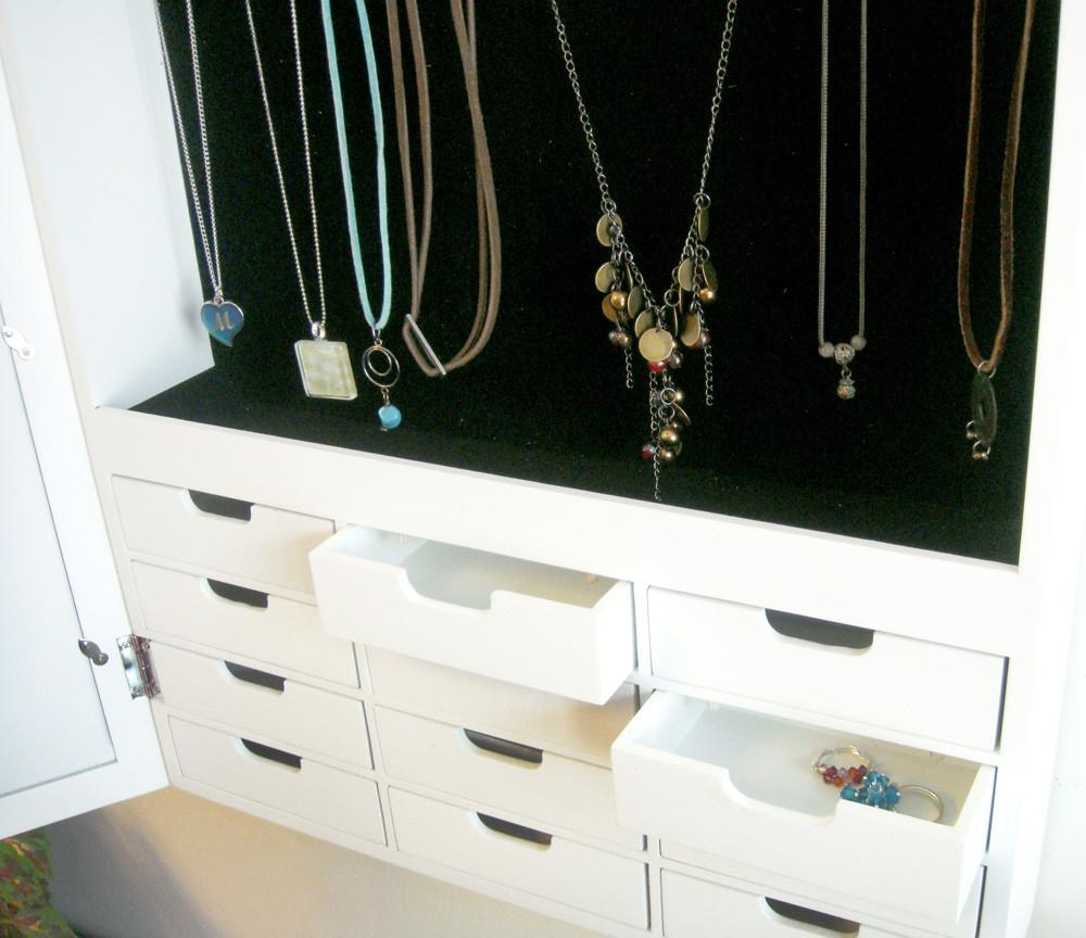 Wall Mounted Jewelry Armoire Innerspace White Overthedoor